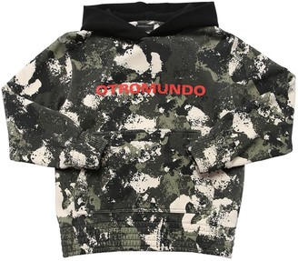 Marcelo Burlon County of Milan All Over Print Cotton Sweatshirt Hoodie