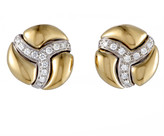 Damiani 18K Two-Tone 0.76 Ct. Tw. Diamond Earrings