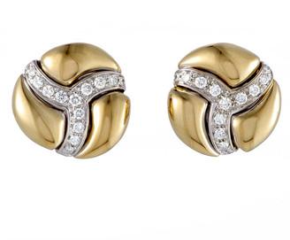 Damiani 18K Two-Tone 0.76 Ct. Tw. Diamond Earrings