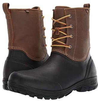 Bogs Sauvie Snow Leather (Black) Men's Shoes
