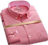 "OCHENTA Men's Slim Fit Long Sleeve Button Down Oxford Dress Shirt Neck 15.3"""