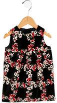 Dolce & Gabbana Girls' Velvet Floral Print Dress