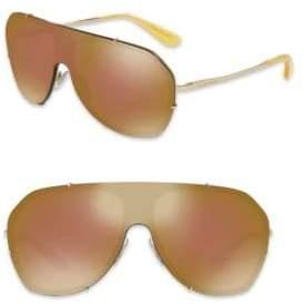 Dolce & Gabbana 37MM Mirrored Shield Sunglasses