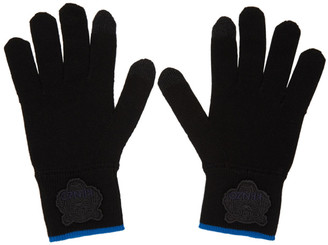 Kenzo Black Tiger Crest Gloves