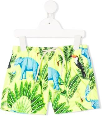 MC2 Saint Barth Kids tropical print drawstring swim shorts