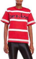 Love Moschino Stripe Short Sleeve Sweatshirt