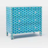 Bone Inlaid 3-Drawer Dresser - Turquoise
