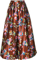 DELPOZO floral print flared trousers