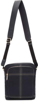 Paul Smith Navy Check Crossbody Bag