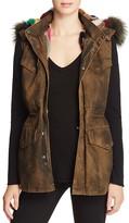 Jocelyn J. Military Multicolor Fur-Lined Vest - 100% Bloomingdale's Exclusive