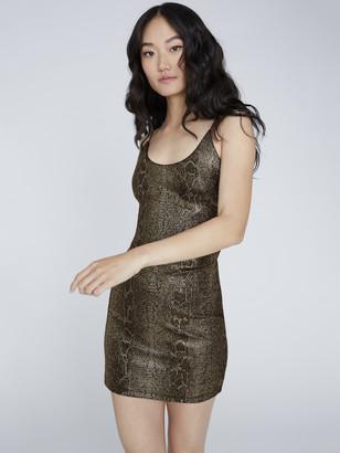 Alice + Olivia Delora Snake Skin Mini Dress