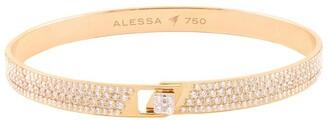Alessa Rose Gold and Diamond Spectrum Full Pave Bangle