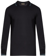 Bottega Veneta Long-sleeved Contrast-panel Polo Shirt