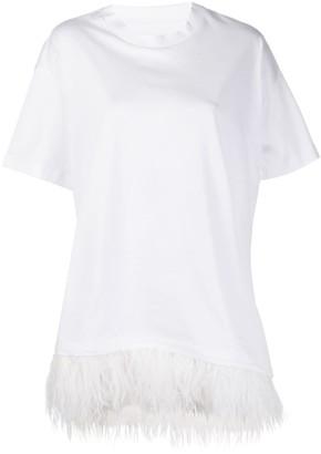 Marques Almeida Marques'Almeida oversized feather trimmed T-shirt