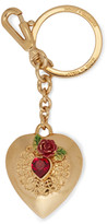 Dolce & Gabbana Gold-tone, crystal and enamel keychain