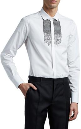 DSQUARED2 Men's Tuxedo Shirt with Sequins