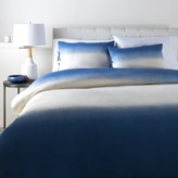 The Well Appointed House Dip Dyed Bedding Set in Navy and Ivory-Available in a Variety of Sizes