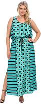 MICHAEL Michael Kors Size Soho Square S/L Maxi Dress