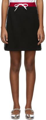 Miu Miu Black Logo Band Miniskirt