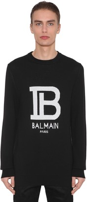 Balmain LOGO WOOL & VISCOSE KNIT SWEATER