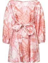 Zimmermann 'winsome' Tye Dye Cinch Dress