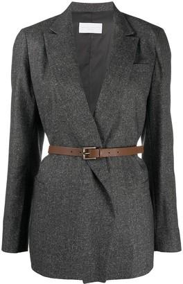 Fabiana Filippi Long Sleeve Belted Blazer