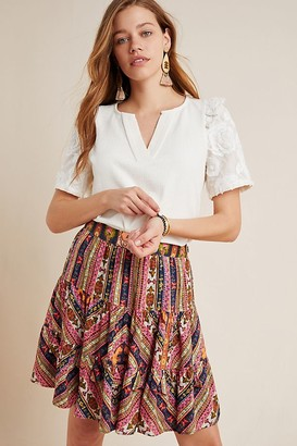 Vineet Bahl Patrice Tiered Mini Skirt