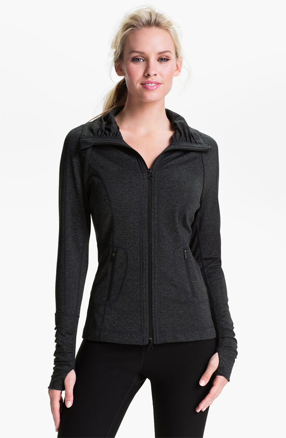 Zella 'Glam' Cross Dye Melange Jacket