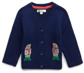 Infant Boy's Mini Boden Crochet Friends Cardigan
