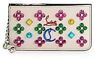 Christian Louboutin Women's Credilou Studded Leather Coin Pouch