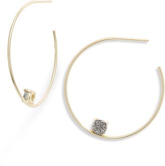 Argentovivo Drusy Hoop Earrings