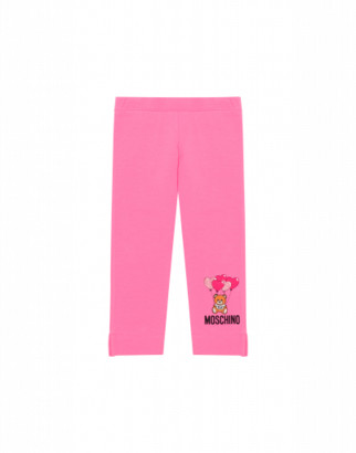 Moschino Heart Balloons Teddy Bear Leggings Woman Pink Size 4a It - (4y Us)
