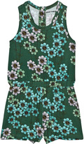 Mini Rodini Dark Green Daisy Playsuit