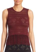A.L.C. Tucker Fringe Top