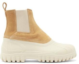 Diemme Balbi Suede Chelsea Boots - Beige White