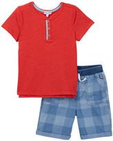Splendid Henley Tee & Short Set (Toddler Boys)