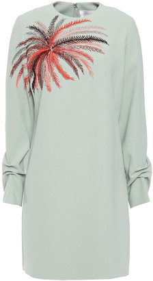 Victoria Victoria Beckham Embroidered Cady Mini Dress