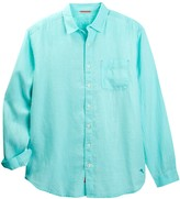 Tommy Bahama Sea Glass Breezer Long Sleeve Linen Sport Shirt (Big & Tall)