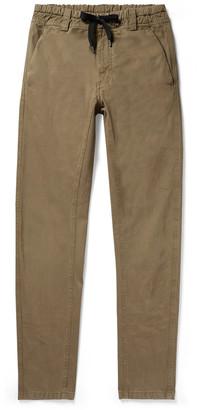 Aspesi Slim-Fit Cotton-Twill Drawstring Trousers