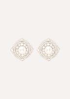 Bebe Sparkling Button Earrings