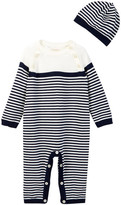 Emile et Rose Jake Striped Coverall & Hat (Baby Boys)