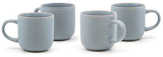 Salt & Pepper Hana 4 Piece Stoneware Mug Set 380ml Light Blue
