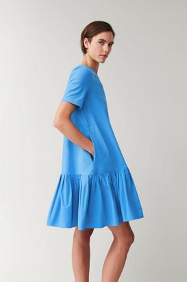 Cos Gathered Panel Cotton Dress