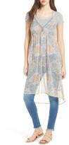 Sun & Shadow Women's Print Sheer Tunic