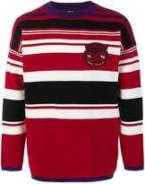Diesel patch striped jumper