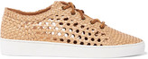 Michael Kors Violet woven leather sneakers