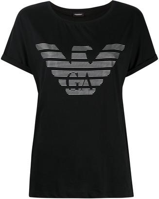 Emporio Armani logo print short-sleeved T-shirt