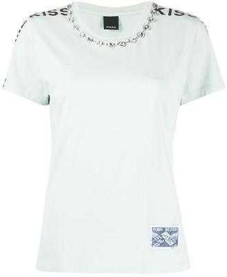 Pinko Kiss Me Crystal embellished T-shirt
