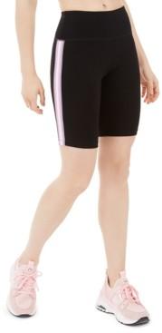 Calvin Klein Ribbed-Stripe High-Waist Bike Short