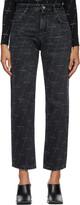Thumbnail for your product : Balenciaga Black Regular Logo Jeans